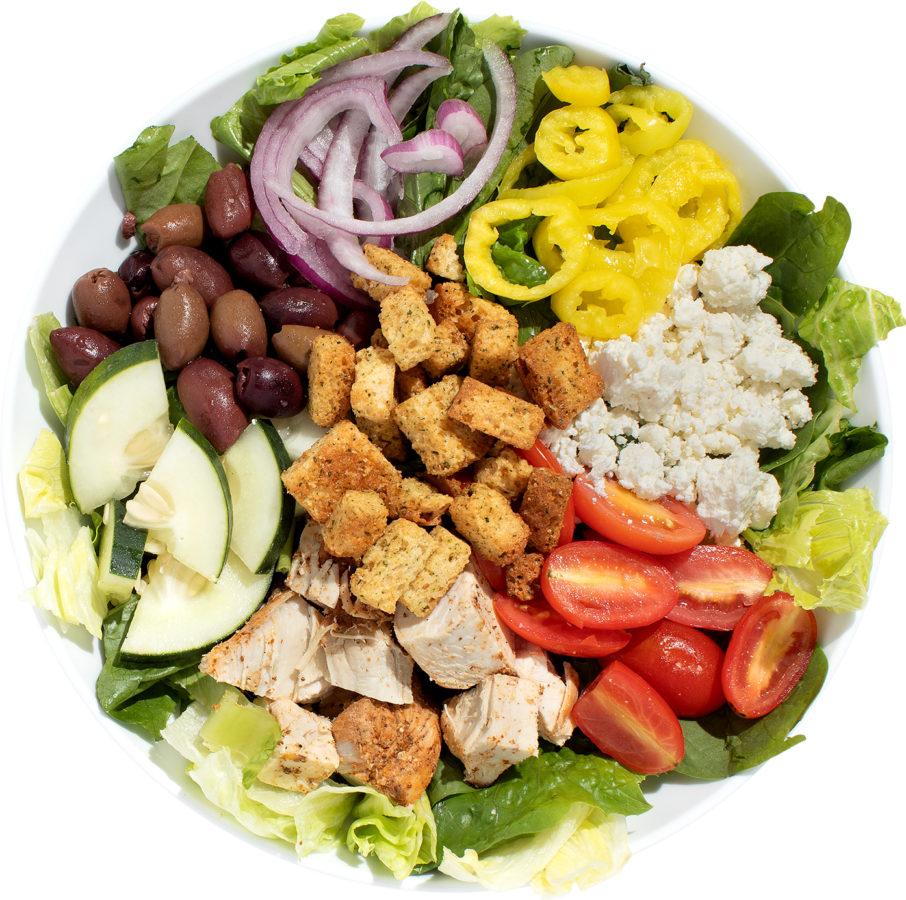 Hide and go greek salad